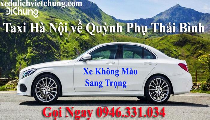 taxi từ Hà Nội về Quỳnh Phụ Thái Bình
