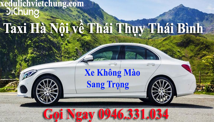 taxi từ hà nội về Thái Thụy Thái Bình